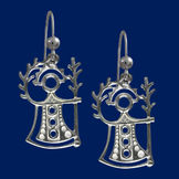 God of fertility, silver earrings
