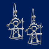 God of thunder, earrings