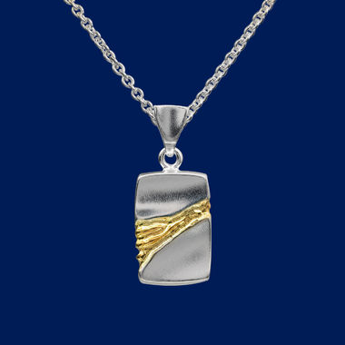The Gold Stream, Man's plate pendant