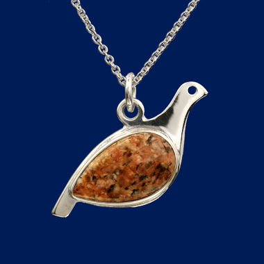 Ptarmigan, pendant, brown