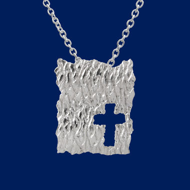 Ice, plate pendant, cross