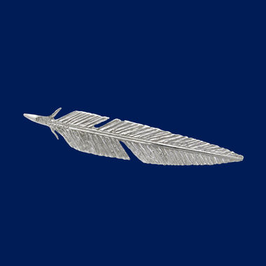 Feather, brooch