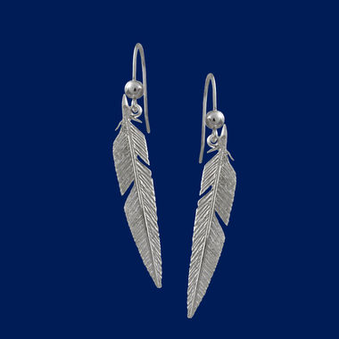 Feather, earrings (hook)