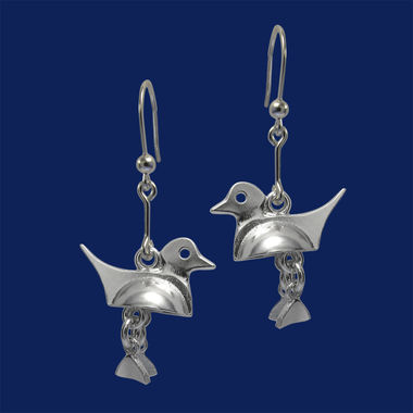 Long-tailed duck, earrings