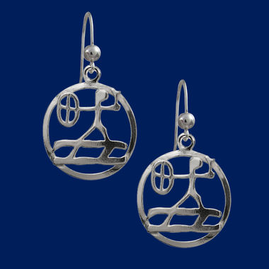 Shaman, silver earrings