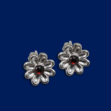 Love flower, stud earrings