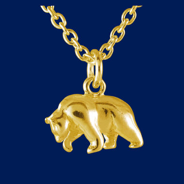 Bear, pendant, gold