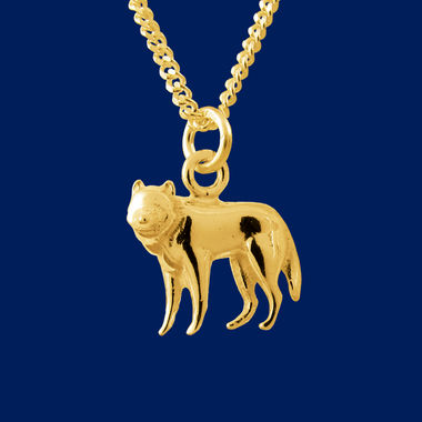 The Wolf, pendant, gold