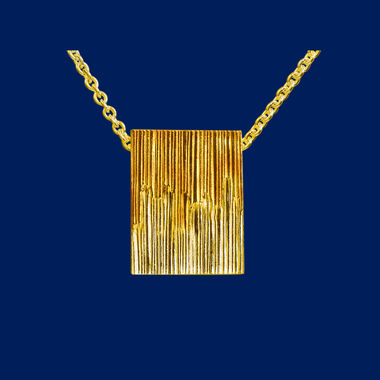 Northern lights, man's pendant, gold