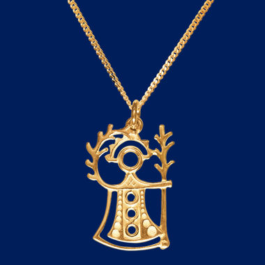 """Akka"", The Goddess of Fertility, pendant, gold"