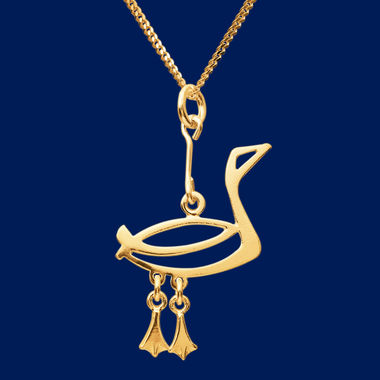 The Loon, small pendant, gold