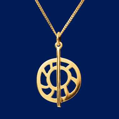 The Moon, pendant, gold