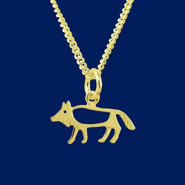 The Wolf, small pendant, gold