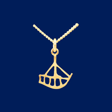 The Boat, small pendant, gold