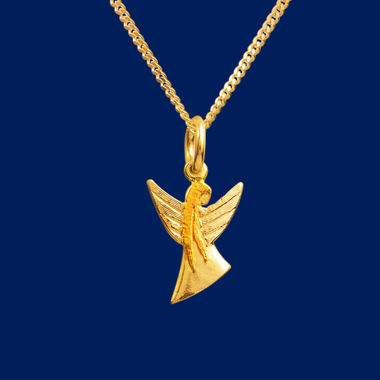 Guardian Angel, pendant small, gold