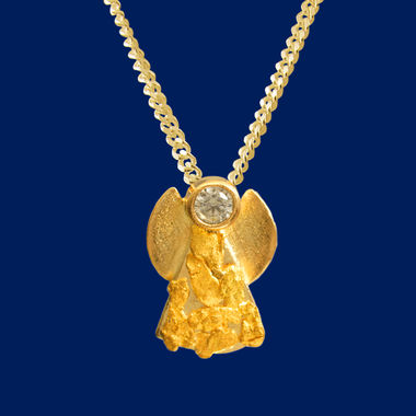 Gold Nugget Angel, zircon