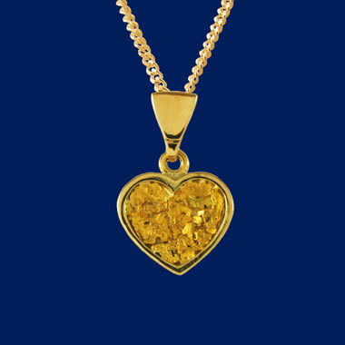 Gold Nugget Heart, pendant