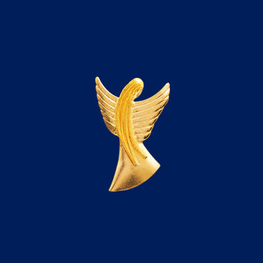 Guardian Angel, brooch, gold