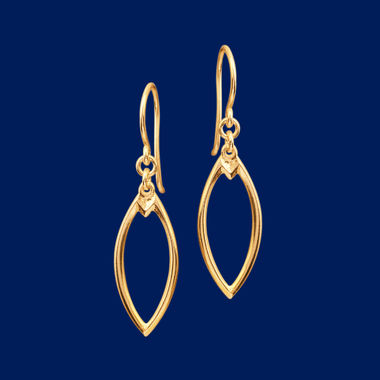 Earmark, earrings (hook), gold