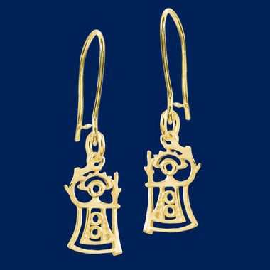 """Akka"", The Goddess of Fertility, earrings small, gold"