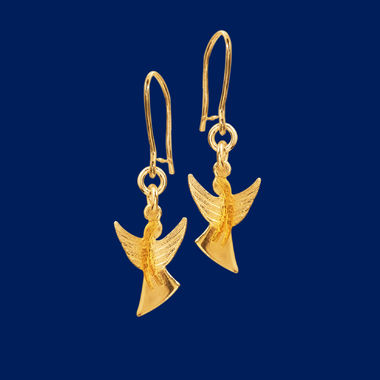Guardian Angel, earrings small, gold