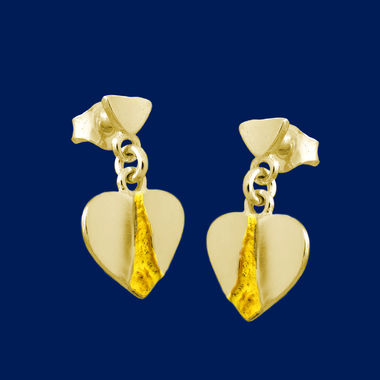 Little Heart, earrings, gold