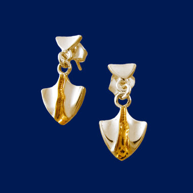 Ruittu, earrings, gold