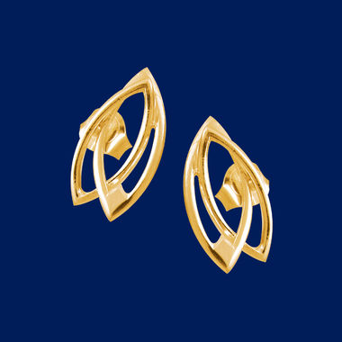 Earmark, earrings (studs), gold