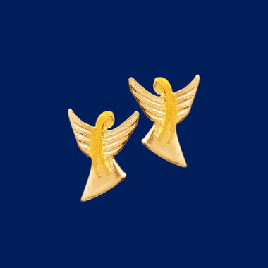 Guardian Angel, earrings (studs) small, gold