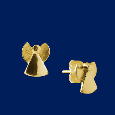 Small Angel, earrings (studs), gold