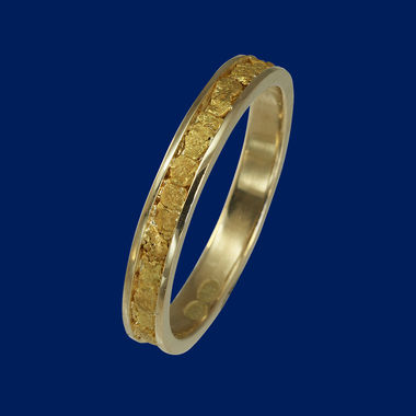 Ring - gold nugget ring