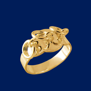 Lapland's ring, small, gold