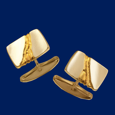 The Gold Stream, cufflinks, gold