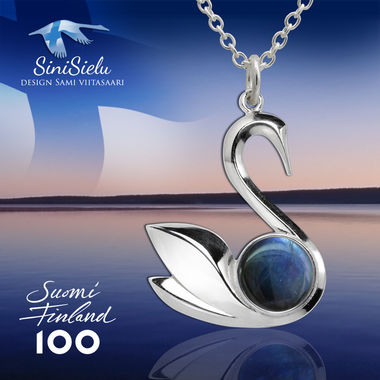SiniSielu, small pendant, white gold
