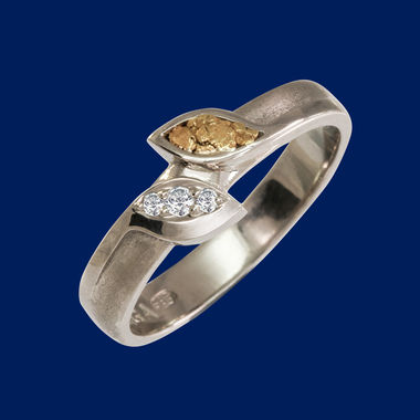 wedding ring - gold leaf