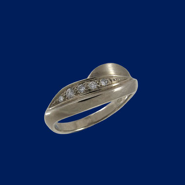 The Fell, Diamond Ring 0,10ct, white gold
