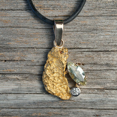 Copy of Copy of Gold nugget pendant