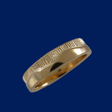 Northern lights ring, gold