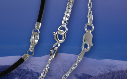 Silver chains pendants necklaces taigakoru oy verkkokauppa aloadofball Image collections