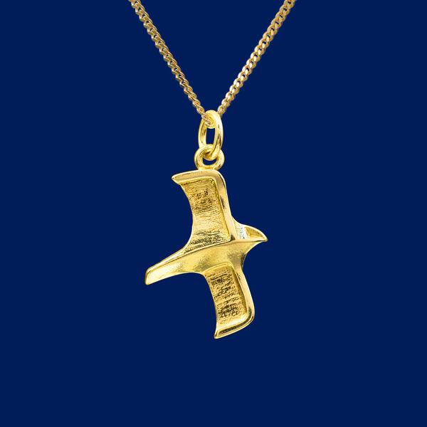 Gyrfalcon, pendant, gold | Taigakoru Oy verkkokauppa