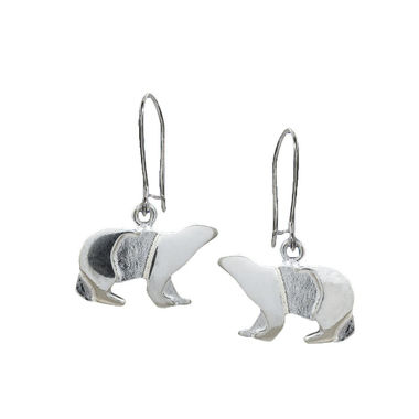 Polar bear, earrings