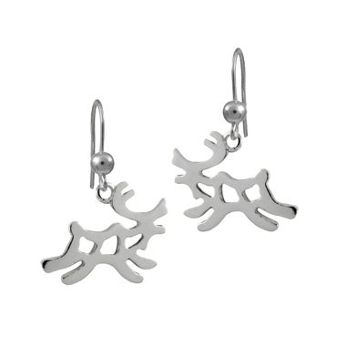 Running reindeer, earrings