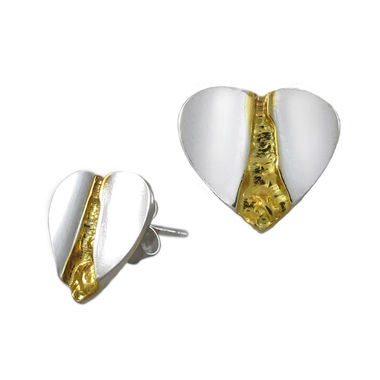 The Gold Stream, Little heart, earrings (studs)