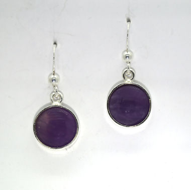 Amethyst earrings, 10mm