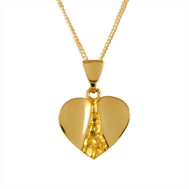 Heart, pendant, gold