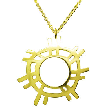 The Sun, big pendant, gold