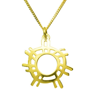 The Sun, pendant, gold