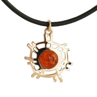 The Sun, pendant, amber, gold