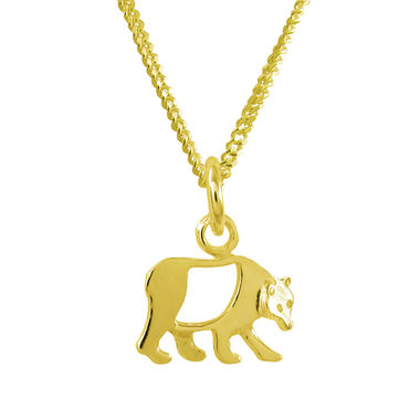 Bear, small pendant, gold