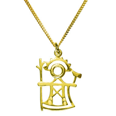 The God of Thunder, pendant, gold